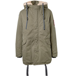 Lanvin Faux Shearling-Trimmed Cotton-Canvas Hooded Parka