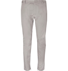 Lanvin Slim-Fit Cotton-Gabardine Biker Trousers