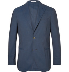 Boglioli Blue Slim-Fit Stretch-Wool Suit Jacket