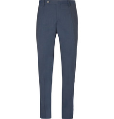 Boglioli Blue Slim-Fit Stretch-Wool Suit Trousers