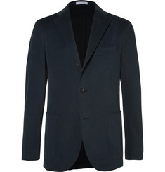 Boglioli Blue Slim-Fit Brushed Stretch-Cotton Twill Suit Jacket