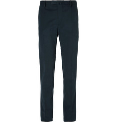 Boglioli Blue Slim-Fit Brushed Stretch-Cotton Twill Suit Trousers