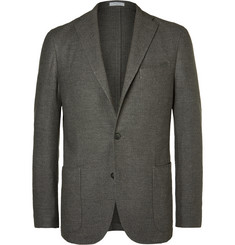 Boglioli Grey Slim-Fit Wool, Cotton and Cashmere-Blend Blazer