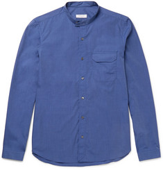 Boglioli Grandad-Collar End-On-End Cotton Shirt