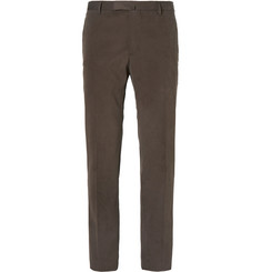Boglioli Brown Slim-Fit Brushed Stretch-Cotton Twill Suit Trousers