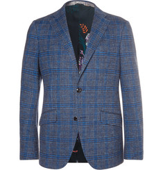 Etro Unstructured Checked Cotton and Wool-Blend Blazer
