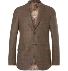 Etro - Brown Slim-Fit Checked Wool-Blend Blazer