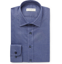Etro Blue Slim-Fit Checked Cotton Shirt