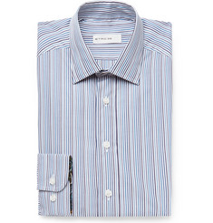 Etro - Blue Slim-Fit Striped Cotton-Poplin Shirt