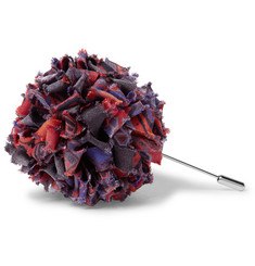 Etro - Patterned Silk-Faille Flower Lapel Pin