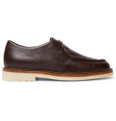 Loro Piana Dover Walk Textured-Leather Derby Shoes