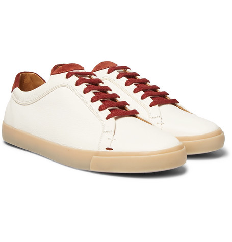 Freetime Full-grain Leather Sneakers - White