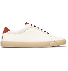 Loro Piana Freetime Full-Grain Leather Sneakers