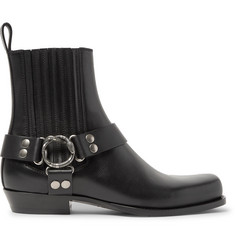 Gucci Embellished Leather Harness Boots