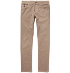 Isaia Slim-Fit Stretch-Cotton Twill Trousers