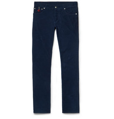 Isaia Slim-Fit Cotton-Corduroy Trousers