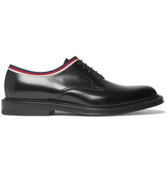 Gucci Grosgrain-Trimmed Leather Derby Shoes
