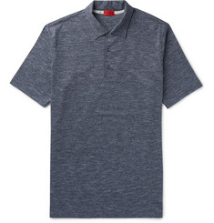 Isaia Space-Dyed Cotton-Jersey Polo Shirt