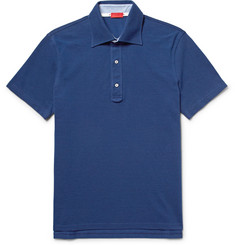 Isaia - Cotton-Piqué Polo Shirt