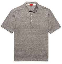 Isaia - Space-Dyed Linen and Cotton-Blend Polo Shirt