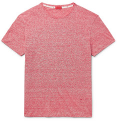 Isaia Space-Dyed Linen and Cotton-Blend T-Shirt
