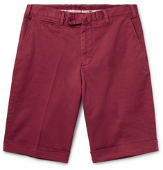 Isaia - Stretch-Cotton Twill Shorts