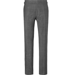 TOM FORD Grey Prince of Wales Checked Wool Suit Trousers