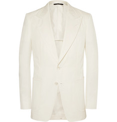 TOM FORD - Cream Shelton Cotton-Twill Suit Jacket