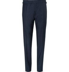 TOM FORD Blue Wool Suit Trousers