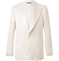 TOM FORD - Cream Shelton Wool and Mohair-Blend Suit Jacket
