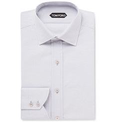 TOM FORD Grey Slim-Fit Cotton-Poplin Shirt