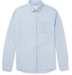 Saturdays NYC - Crosby Slim-Fit Button-Down Collar Washed-Denim Shirt