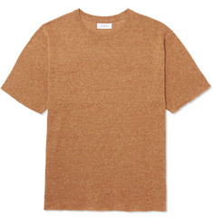 Saturdays NYC Pacho Mélange Cotton and Linen-Blend T-Shirt