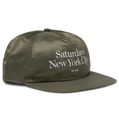 0a6621c595728 Saturdays Surf Nyc Stanley Miller Printed Shell Baseball Cap In Green ...