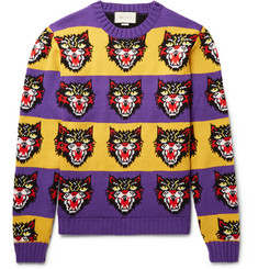 Gucci Angry Cat Intarsia Wool Sweater