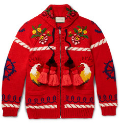 Gucci - Embroidered Wool Cardigan