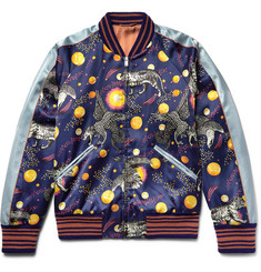 Gucci Space Animals Slim-Fit Printed Satin Bomber Jacket
