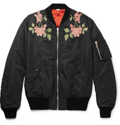 Gucci Reversible Appliquéd Shell Bomber Jacket
