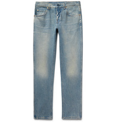 Gucci Slim-Fit Distressed Stonewashed Denim Jeans