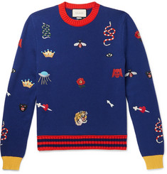 Gucci Embroidered Wool Sweater