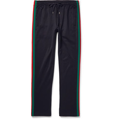 Gucci Stripe-Trimmed Jersey Sweatpants