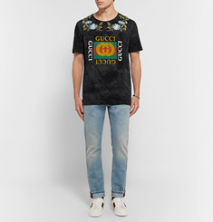 GucciSlim-Fit Embroidered Printed Cotton-Jersey T-Shirt