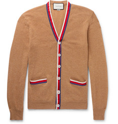 Gucci Webbing-Trimmed Cashmere Cardigan