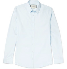 Gucci - Blue Slim-Fit Cotton-Poplin Shirt