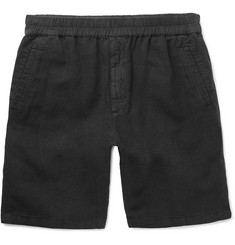 Folk Cotton and Linen-Blend Drawstring Shorts