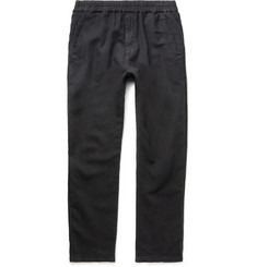 Folk Linen and Cotton-Blend Drawstring Trousers