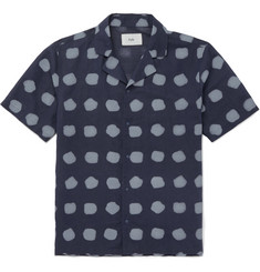 Folk - Camp-Collar Printed Linen and Cotton-Blend Shirt