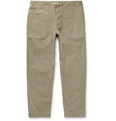 Folk Cotton-Canvas Trousers