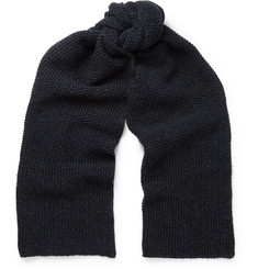 The Workers Club Moss-Stitched Merino Wool Scarf