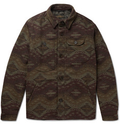 Freemans Sporting Club Patterned Wool-Blend Primaloft Shirt Jacket